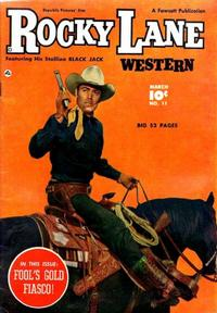 Cover Thumbnail for Rocky Lane Western (Fawcett, 1949 series) #11