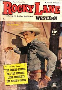 Cover Thumbnail for Rocky Lane Western (Fawcett, 1949 series) #13