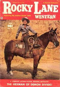 Cover Thumbnail for Rocky Lane Western (Fawcett, 1949 series) #14