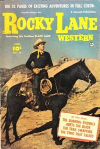 Cover Thumbnail for Rocky Lane Western (Fawcett, 1949 series) #16