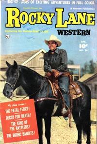 Cover Thumbnail for Rocky Lane Western (Fawcett, 1949 series) #24