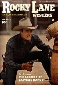 Cover Thumbnail for Rocky Lane Western (Fawcett, 1949 series) #25