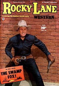 Cover Thumbnail for Rocky Lane Western (Fawcett, 1949 series) #28