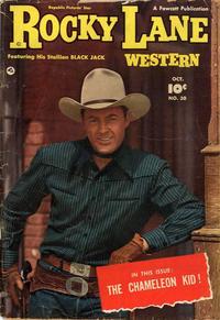 Cover Thumbnail for Rocky Lane Western (Fawcett, 1949 series) #30