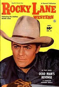 Cover Thumbnail for Rocky Lane Western (Fawcett, 1949 series) #31