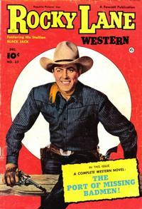 Cover Thumbnail for Rocky Lane Western (Fawcett, 1949 series) #32