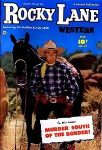 Cover Thumbnail for Rocky Lane Western (Fawcett, 1949 series) #35