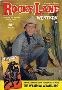 Cover Thumbnail for Rocky Lane Western (Fawcett, 1949 series) #36