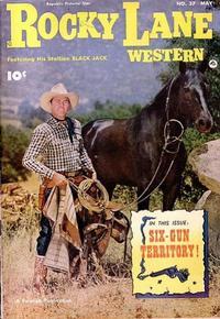 Cover Thumbnail for Rocky Lane Western (Fawcett, 1949 series) #37