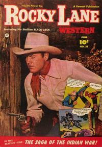 Cover Thumbnail for Rocky Lane Western (Fawcett, 1949 series) #38