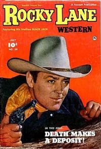 Cover Thumbnail for Rocky Lane Western (Fawcett, 1949 series) #39