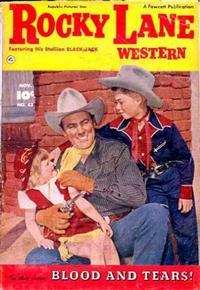 Cover Thumbnail for Rocky Lane Western (Fawcett, 1949 series) #43