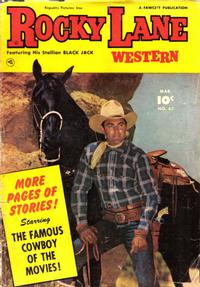 Cover Thumbnail for Rocky Lane Western (Fawcett, 1949 series) #47