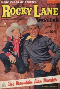 Cover Thumbnail for Rocky Lane Western (Fawcett, 1949 series) #52