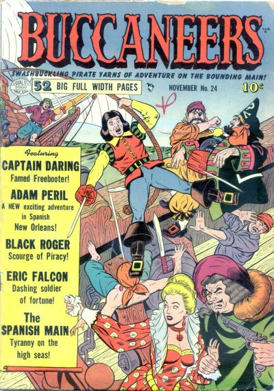 Cover for Buccaneers (Quality Comics, 1950 series) #24