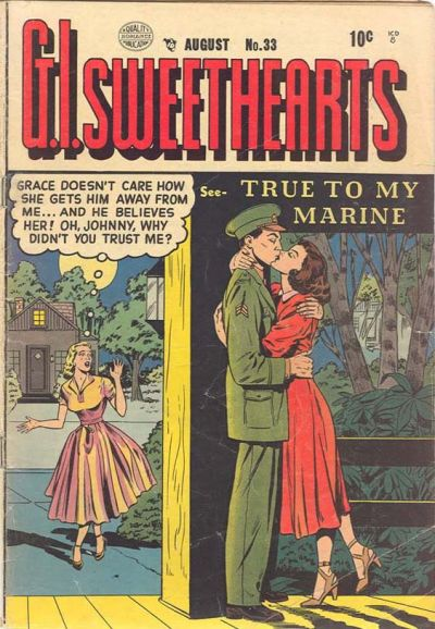 Cover for G.I. Sweethearts (Quality Comics, 1953 series) #33