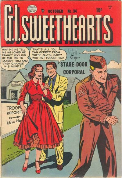 Cover for G.I. Sweethearts (Quality Comics, 1953 series) #34