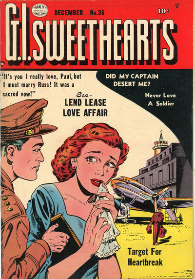 Cover for G.I. Sweethearts (Quality Comics, 1953 series) #36
