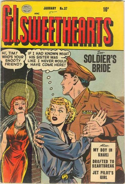 Cover for G.I. Sweethearts (Quality Comics, 1953 series) #37