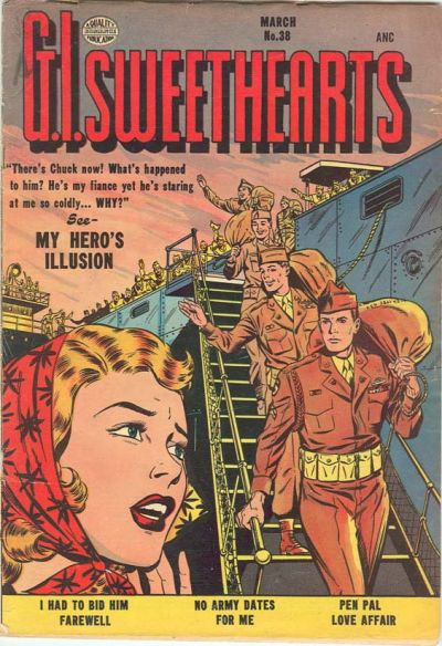 Cover for G.I. Sweethearts (Quality Comics, 1953 series) #38