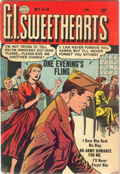 Cover for G.I. Sweethearts (Quality Comics, 1953 series) #40