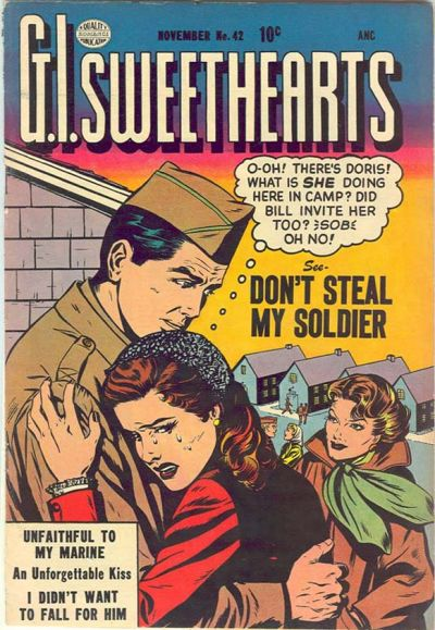 Cover for G.I. Sweethearts (Quality Comics, 1953 series) #42