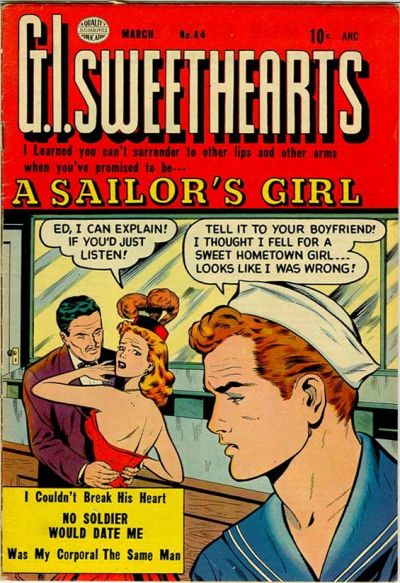 Cover for G.I. Sweethearts (Quality Comics, 1953 series) #44