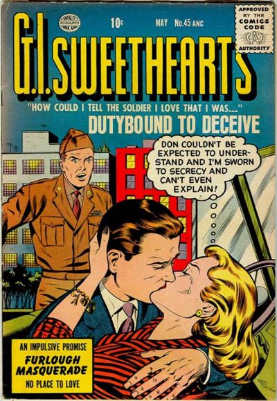 Cover for G.I. Sweethearts (Quality Comics, 1953 series) #45