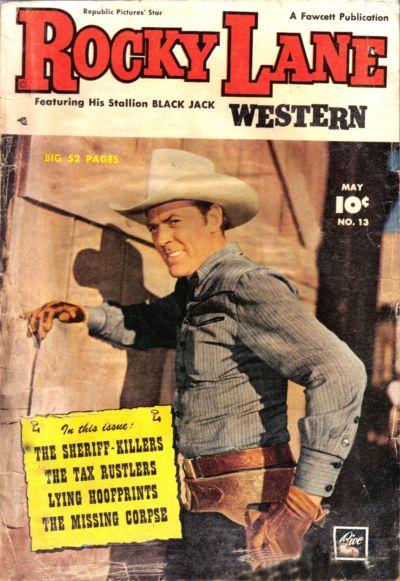 Cover for Rocky Lane Western (Fawcett, 1949 series) #13