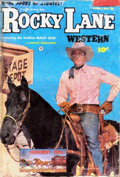 Cover for Rocky Lane Western (Fawcett, 1949 series) #48