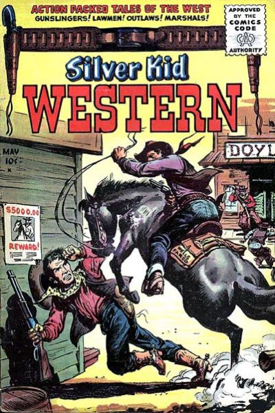 Cover for Silver Kid Western (Stanley Morse, 1954 series) #4