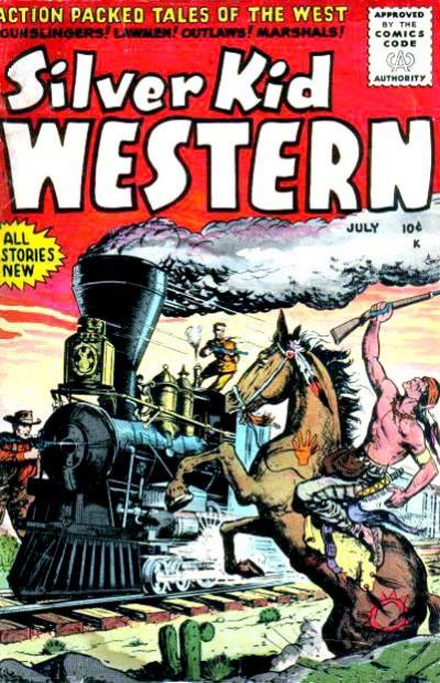 Cover for Silver Kid Western (Stanley Morse, 1954 series) #5