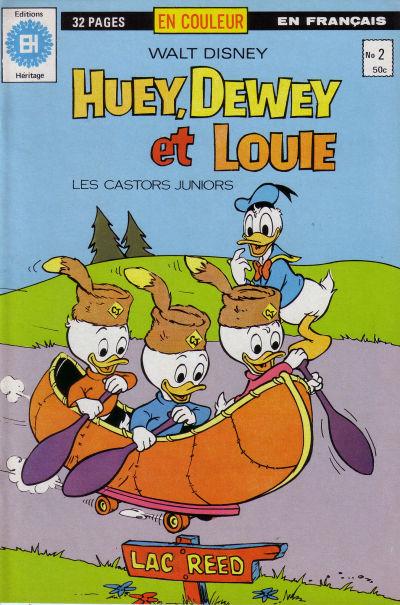 Cover for Huey, Dewey et Louie - Les Castors Juniors (Editions Héritage, 1980 series) #2