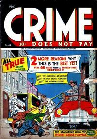Cover Thumbnail for Crime Does Not Pay (Lev Gleason, 1942 series) #44