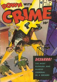 Cover Thumbnail for Down with Crime (Fawcett, 1952 series) #1