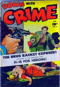 Cover Thumbnail for Down with Crime (Fawcett, 1952 series) #3