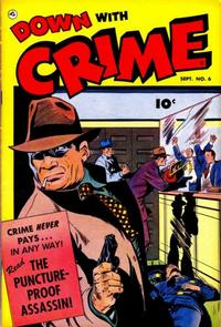 Cover Thumbnail for Down with Crime (Fawcett, 1952 series) #6