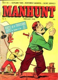 Cover Thumbnail for Manhunt (Magazine Enterprises, 1947 series) #5