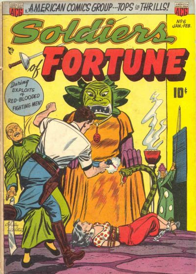 Cover for Soldiers of Fortune (American Comics Group, 1951 series) #6