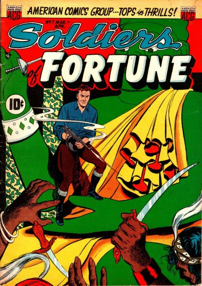 Cover for Soldiers of Fortune (American Comics Group, 1951 series) #7