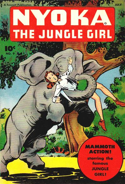 Cover for Nyoka the Jungle Girl (Fawcett, 1945 series) #9