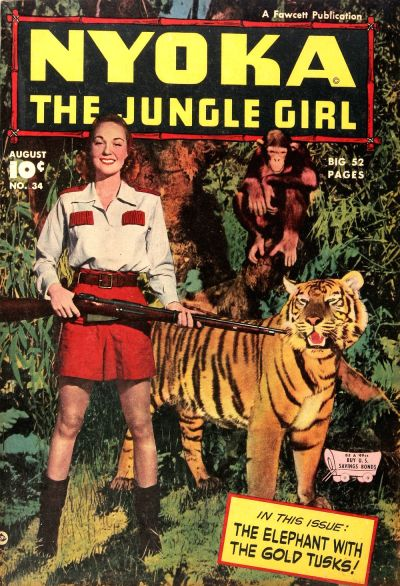 Cover for Nyoka the Jungle Girl (Fawcett, 1945 series) #34
