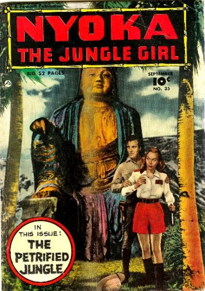 Cover for Nyoka the Jungle Girl (Fawcett, 1945 series) #35