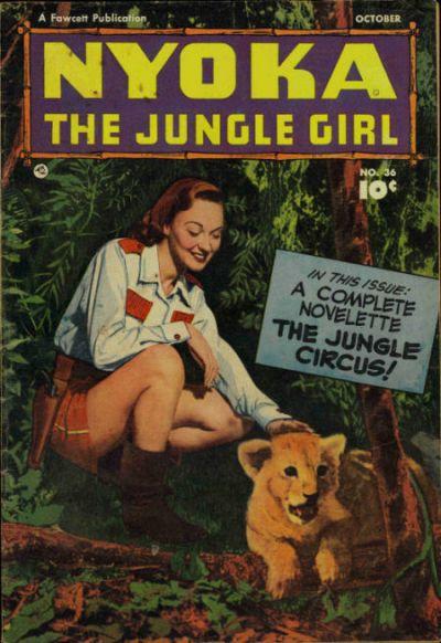 Cover for Nyoka the Jungle Girl (Fawcett, 1945 series) #36