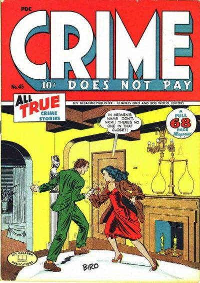 Cover for Crime Does Not Pay (Lev Gleason, 1942 series) #45