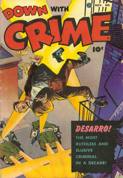 Cover for Down with Crime (Fawcett, 1952 series) #1