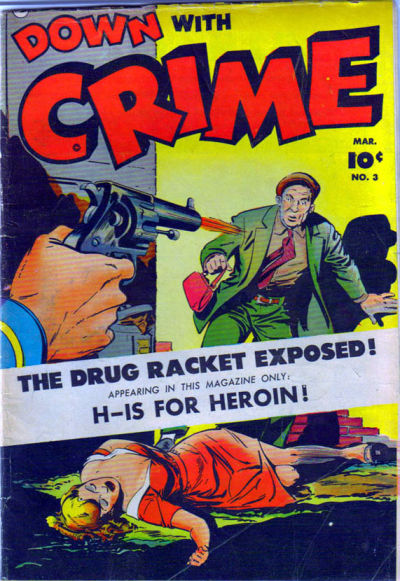 Cover for Down with Crime (Fawcett, 1952 series) #3
