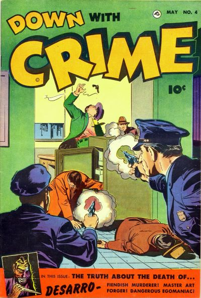 Cover for Down with Crime (Fawcett, 1952 series) #4