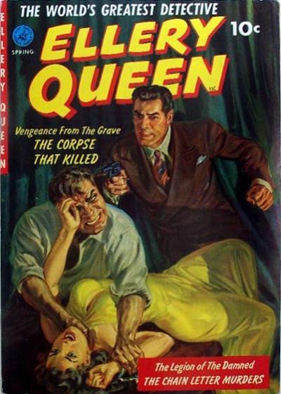 Cover for Ellery Queen (Ziff-Davis, 1952 series) #1