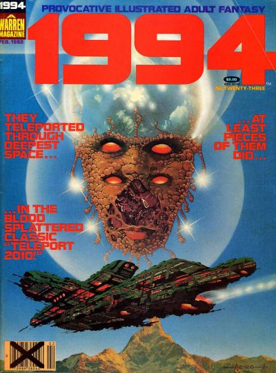 Cover for 1994 (Warren, 1980 series) #23 [Crossed-out Barcode]